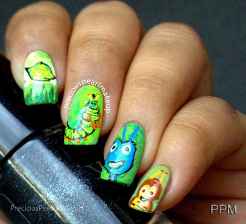 A Bug's Life Nails nail art by Pearl P.