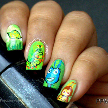 A Bug's Life Nails nail art by Pearl P.