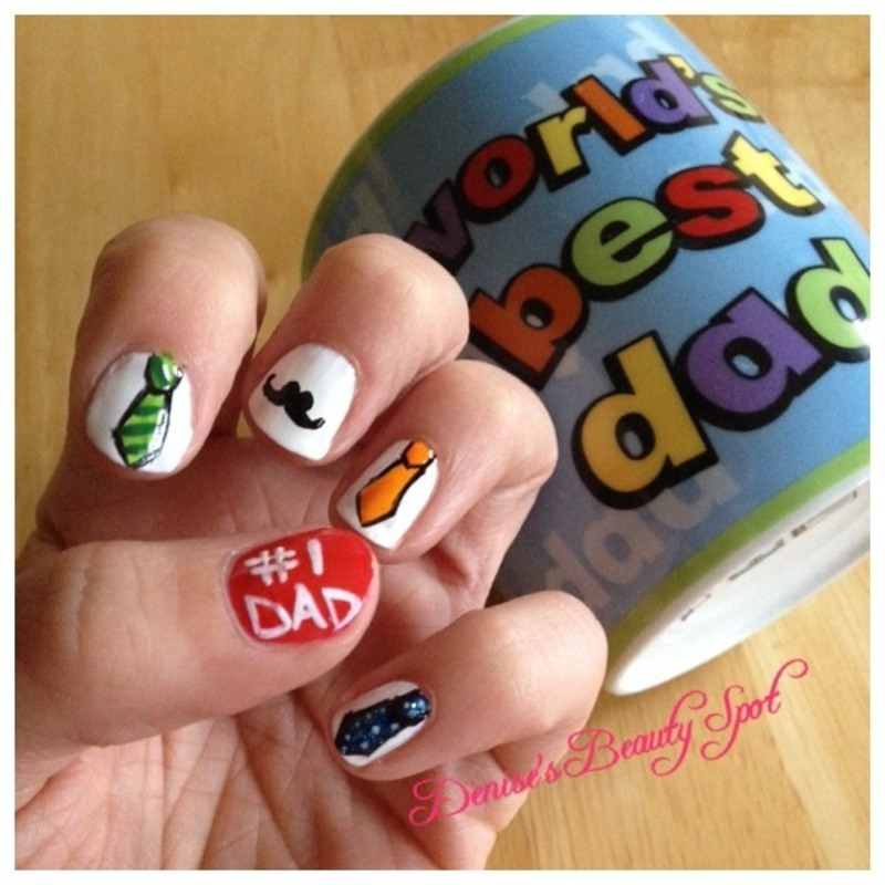 Dad's the Word nail art by Denise's Beauty Spot
