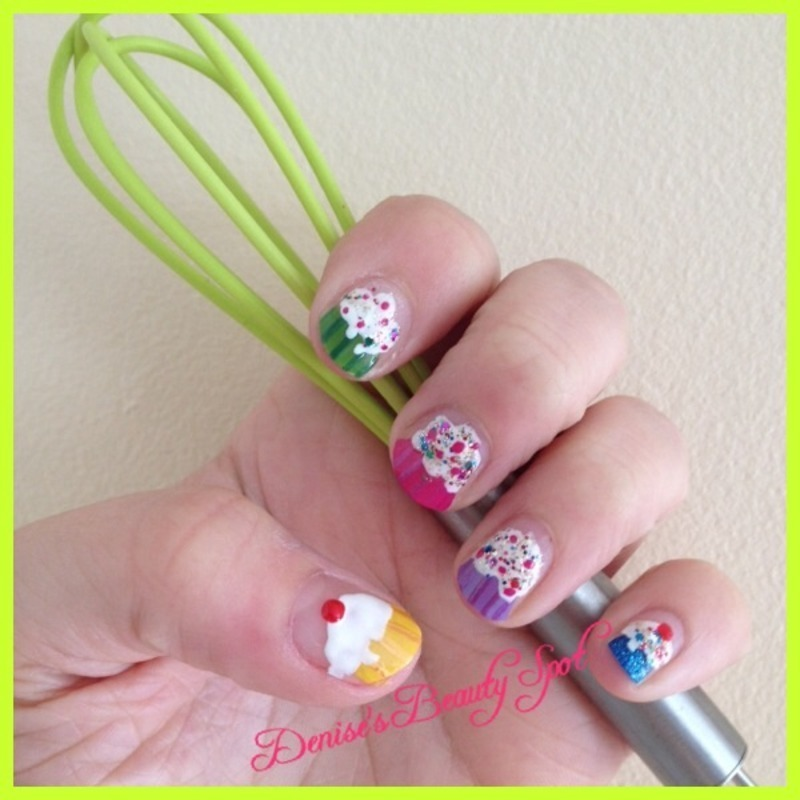 Life's a piece of CupCake nail art by Denise's Beauty Spot