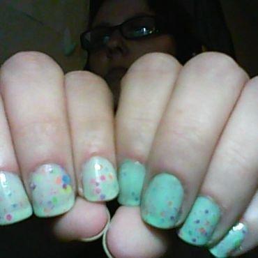 It's so minty! nail art by Jess Hannan