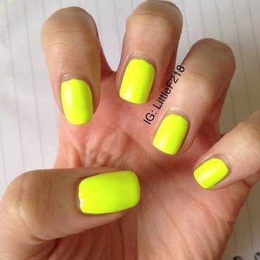 China Glaze Yellow Polka Dot Bikini Swatch by  Faye