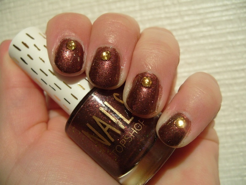 Autumn Jewels nail art by Lina-Elvira