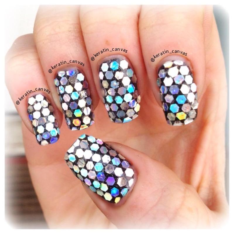 Disco Diva nail art by Amanda
