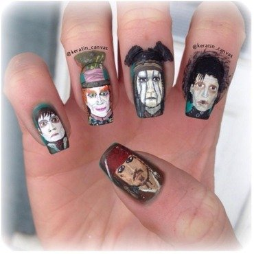 Johnny Depp nail art by Amanda
