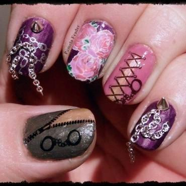 Hmmmmmm :) nail art by Pamela Feader