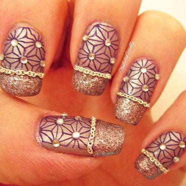 Ball and Chain nail art by Karolyn