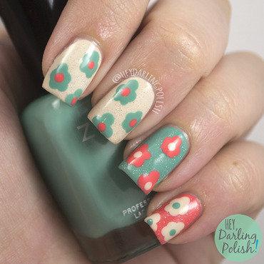 Dotty Flowers nail art by Marisa  Cavanaugh