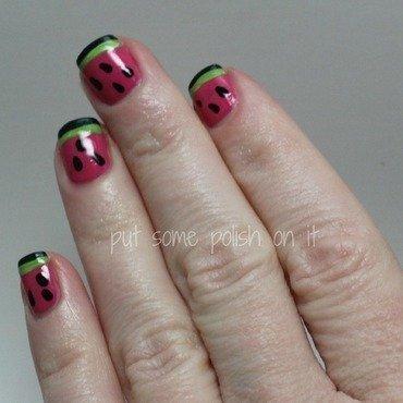 watermelon anyone nail art by Crystal