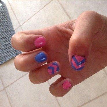 La la chevrons  nail art by Cupcake200122