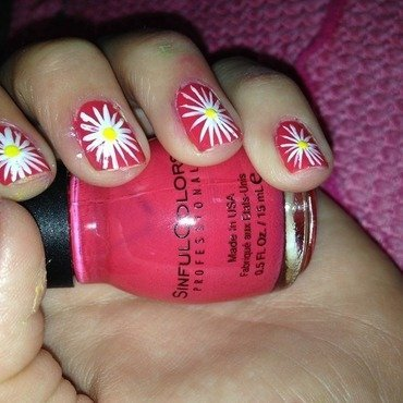 Daisies 😍 nail art by Debrry5157