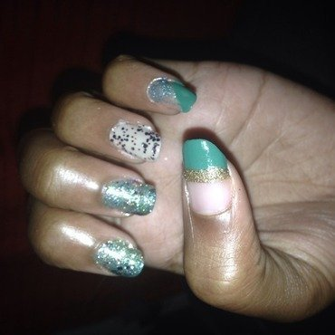 Glitz nail art by Carolyn Johnson