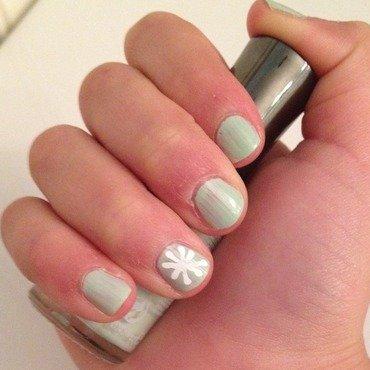 snow flake  nail art by Nails_By_Maya