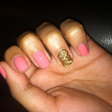 Glitter Placement nail art by Michelle Pacheco