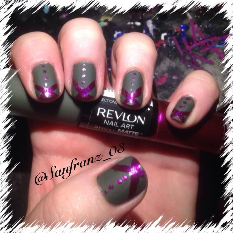 Matte revlon polish! nail art by Sandy