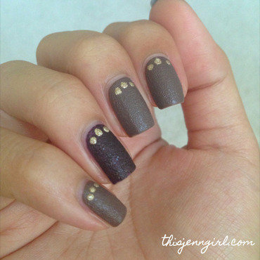 Liquid Sand Trio nail art by Jenn Thai