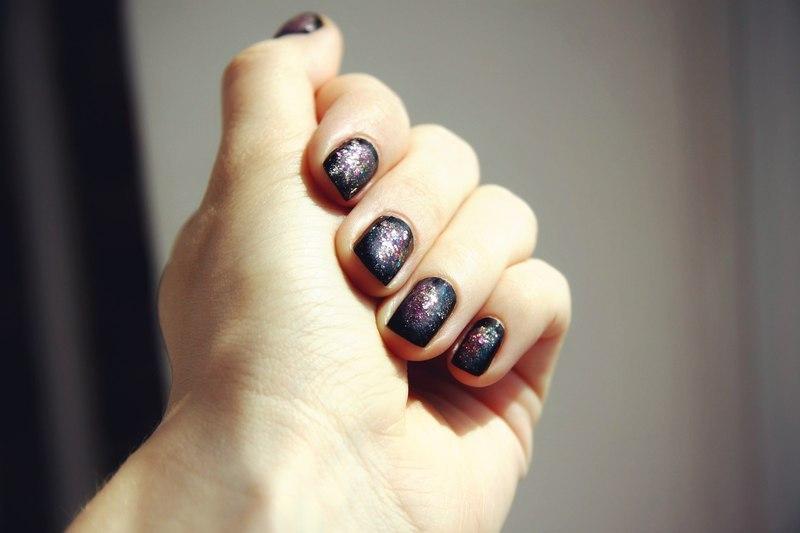 space nail art by Anna Sharova