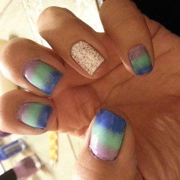 ombre nail art by moyra zuniga