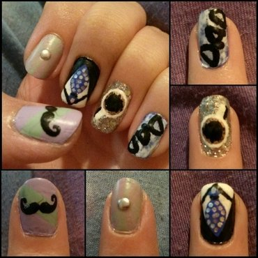 Love you Daddy! nail art by cocosammi8