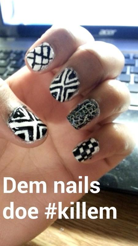 peekaboo nail art by Ahhhhlysia