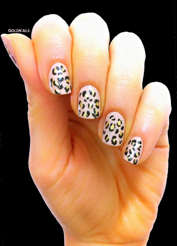Leopard Nails nail art by Goldi