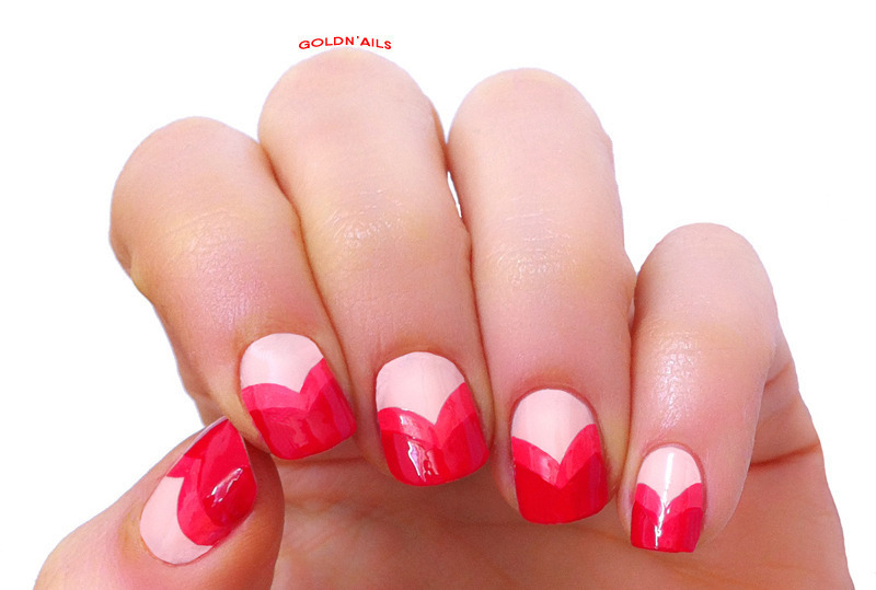 Valentine's Day Nails nail art by Goldi