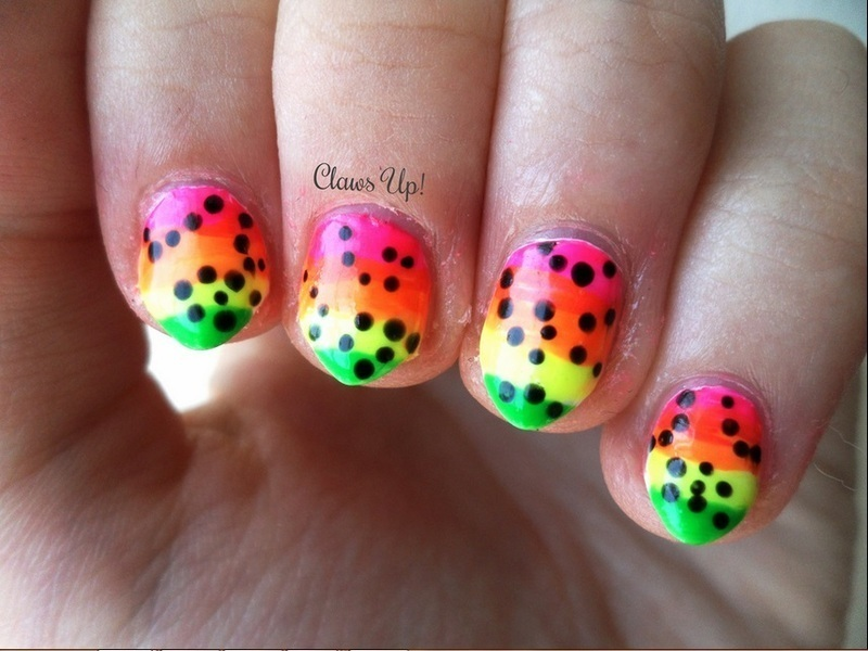 Neon Nails nail art by Jacquie