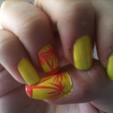 Palms nail art by Giorgia