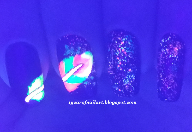 Neon feather nail art nail art by Margriet Sijperda