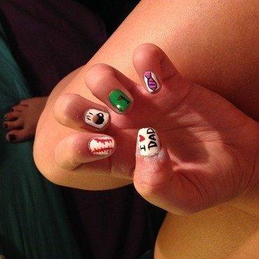 daddy day  nail art by Princesscourtney
