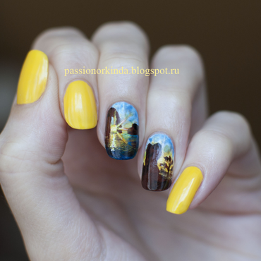 Inspired by the Father's Day - Crimea walking trip nail art by Passionorkinda