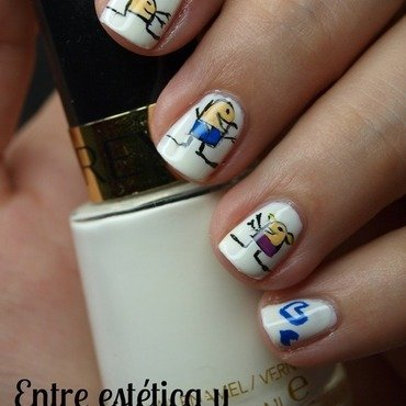 I love you daddy! nail art by MartaRuso