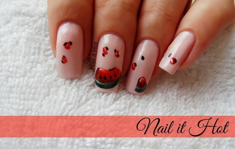 watermelon nail art by Nail_it_hot