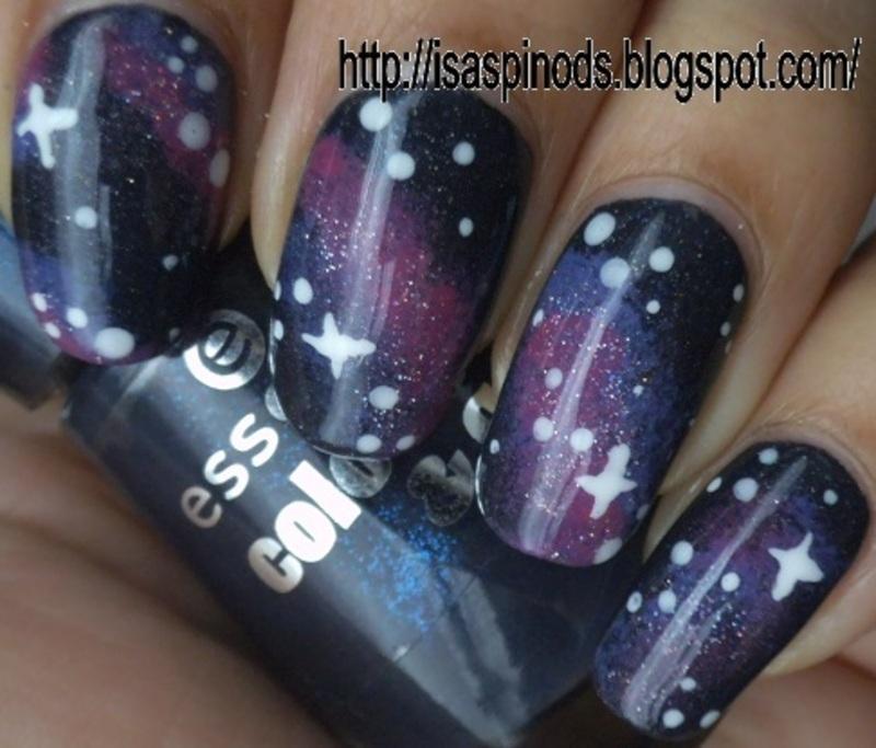 Galaxy Nail Art  nail art by Isabel