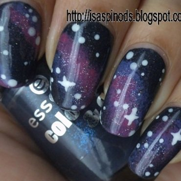 Galaxy Nail Art  nail art by Isabel