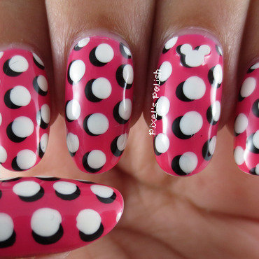 3D Hidden Mickey! nail art by Pixel's Polish