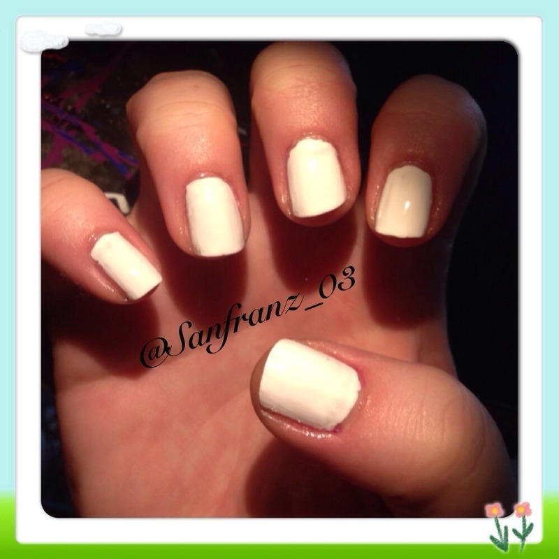 Orly White Tips Swatch by Sandy