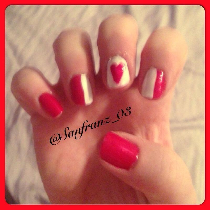 Canada nails! nail art by Sandy