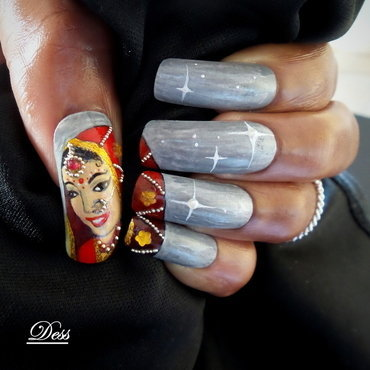 Indian bride nail art by Dess_sure