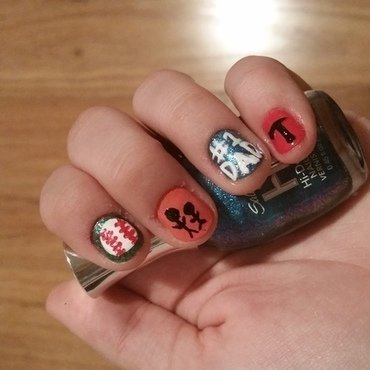 father's day <3 nail art by tinaregrut