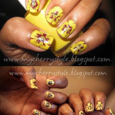 Pansy Me Much? nail art by Joni Lynne