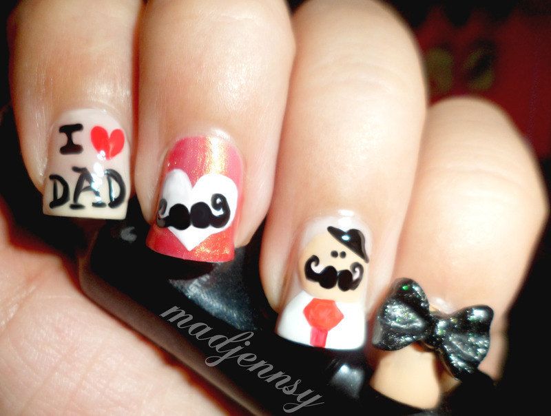 I ❤ My Dad Nail Art nail art by madjennsy Nail Art