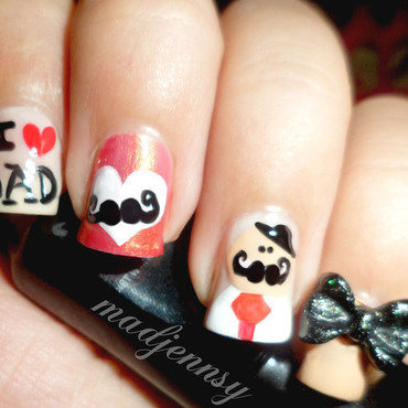 I ❤ My Dad Nail Art nail art by madjennsy Nail Art