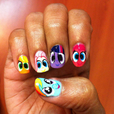 My Little Pony nail art by Joni Lynne
