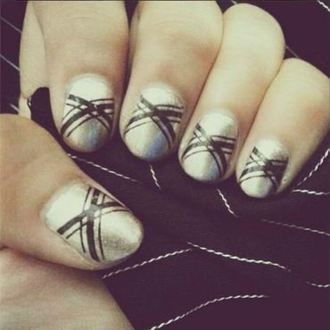 Inverted French nail art by Joni Lynne