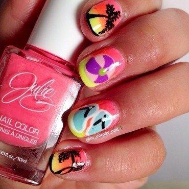 Summer! nail art by Massiel Pena