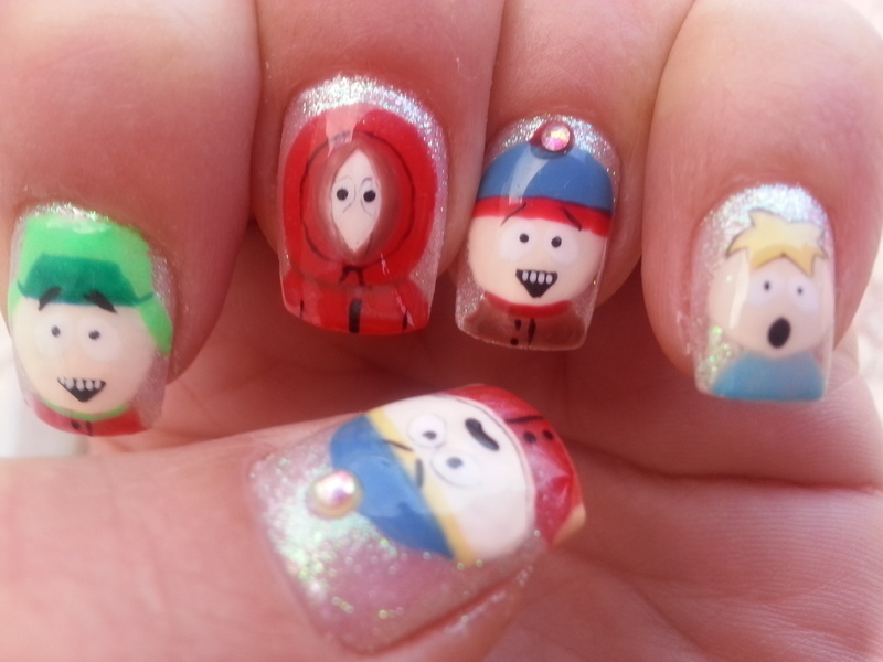 Southpark nail art by Oya Harris