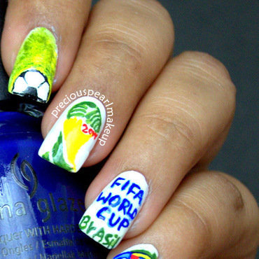 FIFA World Cup 2014 Inspired Nails nail art by Pearl P.