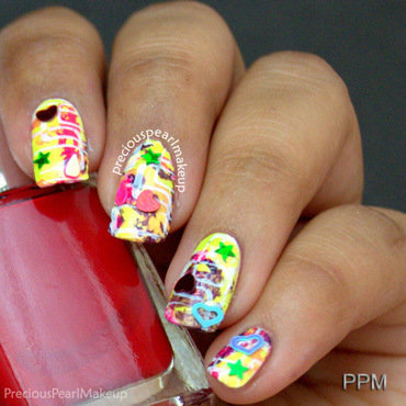 Confetti Nails nail art by Pearl P.