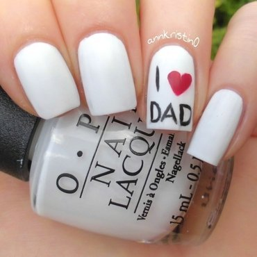 I Love Dad nail art by Ann-Kristin